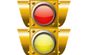 Create a Detailed Vector Traffic Light with Simple Shapes, Gradients, and Glows
