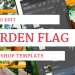 Free Garden Flag Mockup Template
