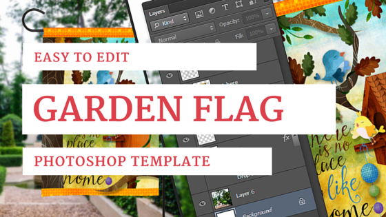 Free Garden Flag Mockup Template
